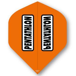 Pentathlon Orange Standard Dart Flights - F0312