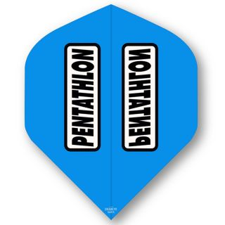 Pentathlon Cyan Standard Dart Flights - F0314