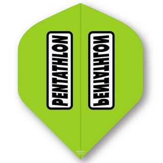 Pentathlon Light Green Standard Dart Flights - F0316