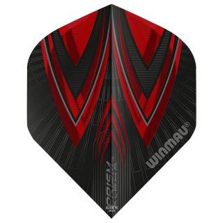 Winmau Prism Alpha Standard Dart Flights - Black and Red - F0581