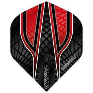 Winmau Prism Alpha Standard Dart Flights - Black and Red - F0582