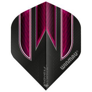 Winmau Prism Alpha Standard Dart Flights - Black and Pink - F0584
