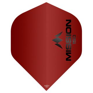 Mission Logo 150 Dart Flights - Red No 2 Standard - F0622
