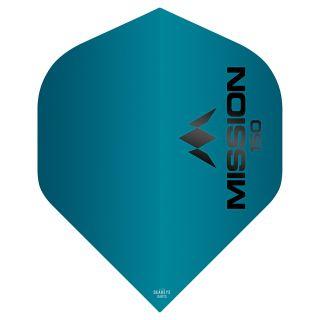 Mission Logo 150 Dart Flights - Blue No 2 Standard - F0623