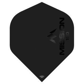 Mission Logo 150 Dart Flights - Black No 2 Standard - F0624