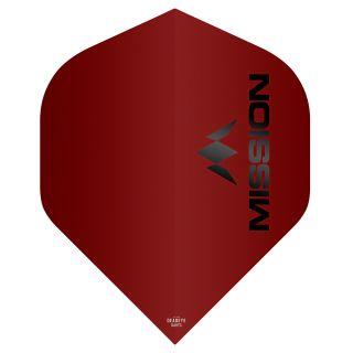 Mission Logo 100 Dart Flights - Matt Red No 2 Standard - F0641