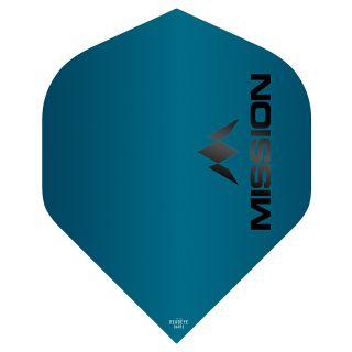 Mission Logo 100 Dart Flights - Matt Blue No 2 Standard - F0642