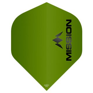 Mission Logo 100 Dart Flights - Matt Green No 2 Standard - F0643