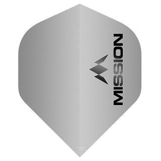 Mission Logo 100 Dart Flights - Matt Grey No 2 Standard - F0644