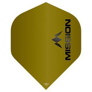 Mission Logo 100 Dart Flights - Matt Yellow No 2 Standard - F0646