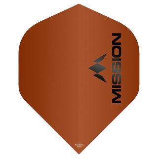 Mission Logo 100 Dart Flights - Matt Orange No 2 Standard - F0647