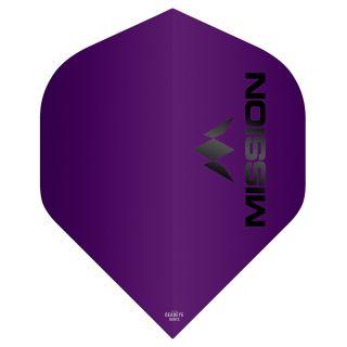 Mission Logo 100 Dart Flights - Matt Purple No 2 Standard - F0648