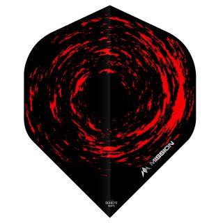 Mission Nova Dart Flights - Black - Red No 2 Standard - F0649