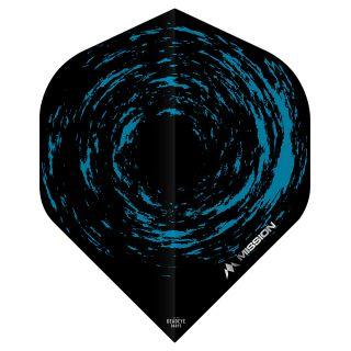 Mission Nova Dart Flights - Black - Blue No 2 Standard - F0650