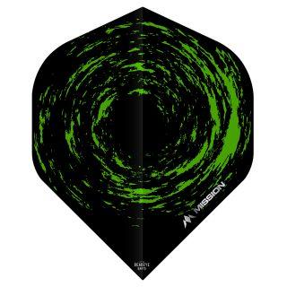 Mission Nova Dart Flights - Black - Green - F0652