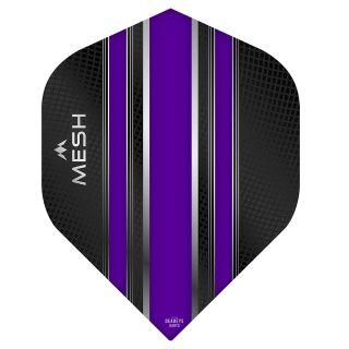 Mission Mesh Dart Flights - No 2 Standard - Purple