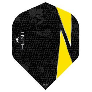 Mission Flint Dart Flights - No 2 Standard - Yellow - F0720