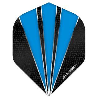 Mission Flare Dart Flights - No 2 Standard - Aqua Blue - F0733