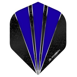 Mission Flare Dart Flights - No 2 Standard - Dark Blue - F0734