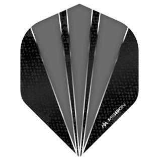 Mission Flare Dart Flights - No 2 Standard - Grey - F0737