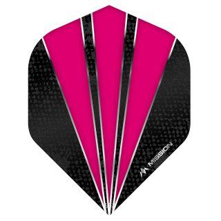 Mission Flare Dart Flights - No 2 Standard - Pink - F0739