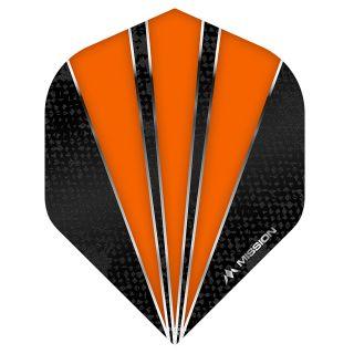 Mission Flare Dart Flights - No 2 Standard - Orange - F0741
