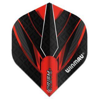 Winmau Prism Alpha Standard Dart Flights - Red and Black - F0845
