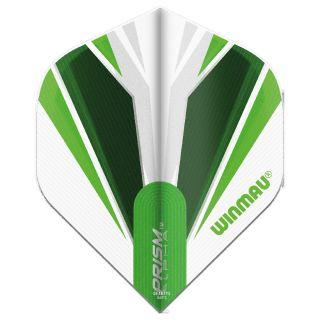 Winmau Prism Alpha Standard Dart Flights - White and Green - F0846