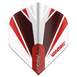 Winmau Prism Alpha Standard Dart Flights - White and Red - F0847