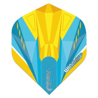 Winmau Prism Delta Standard Dart Flights - Blue and Yellow - F0862