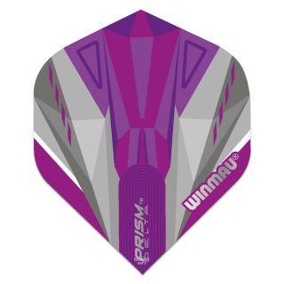 Winmau Prism Delta Standard Dart Flights - Purple and White - F0863