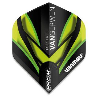 Winmau Prism Alpha MvG Dart Flights - Black and Green - F0923