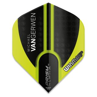 Winmau Prism Alpha MvG Dart Flights - Black and Green - F0924