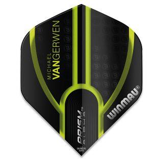 Winmau Prism Alpha MvG Dart Flights - Black and Green - F0925