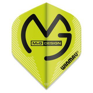 Winmau Mega Standard MvG Dart Flights - Green - F0927