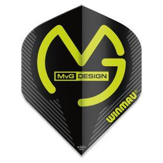 Winmau Mega Standard MvG Dart Flights - Black - F0929