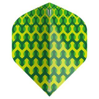 Target - Fabric Dart Flights - Green - No.2 - F1350