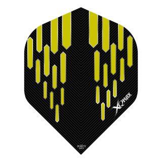 XQMax Max Flights - Dart Flights - No2 Standard  - Contour - Yellow - F1501