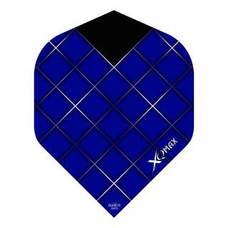 XQMax Max Flights - Dart Flights - No2 Standard  - Grid - Blue - F1502