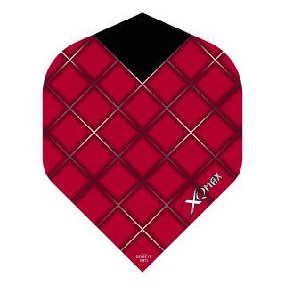 XQMax Max Flights - Dart Flights - No2 Standard  - Grid - Red - F1504