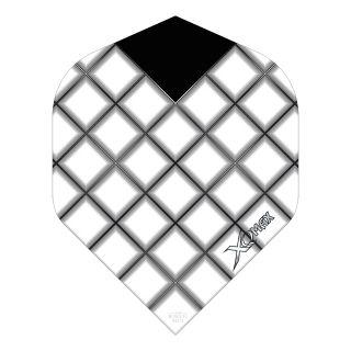 XQMax Max Flights - Dart Flights - No2 Standard  - Grid - White - F1505