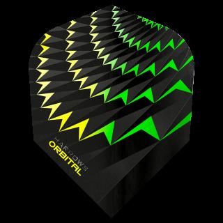 Harrows Orbital Standard Dart Flights - Yellow/Green - F1558