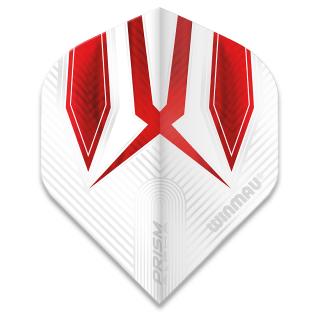 Winmau Prism Alpha Standard Dart Flights - Red and White - F1578