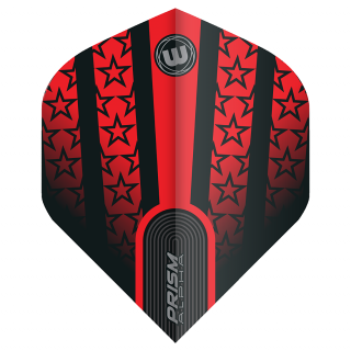 Winmau Prism Alpha Standard Dart Flights - Red and Black - F1580