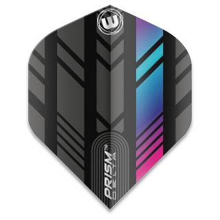 Winmau Prism Delta Standard Dart Flights - Pink/Blue and Black - F1581