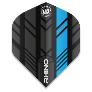 Winmau Rhino Standard Dart Flights - Blue and Black - F1583