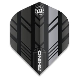 Winmau Rhino Standard Dart Flights - Grey and Black - F1585