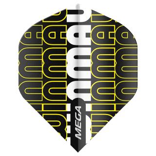 Winmau Mega Standard Dart Flights - Yellow/White and Black - F1608