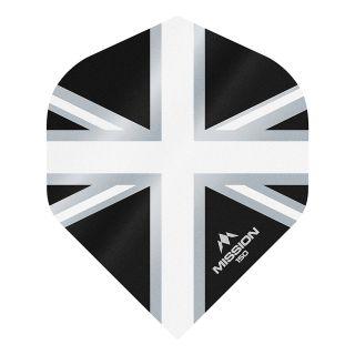 Mission Alliance Union Jack 150 - No 2 Standard - Black with White Dart Flights - F1613
