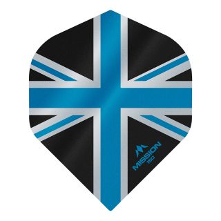 Mission Alliance Union Jack 150 - No 2 Standard - Black with Blue Dart Flights - F1614
